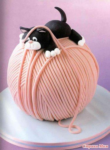 Необычные торта из мастики