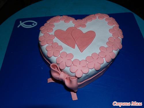 Торты валентинки с фото