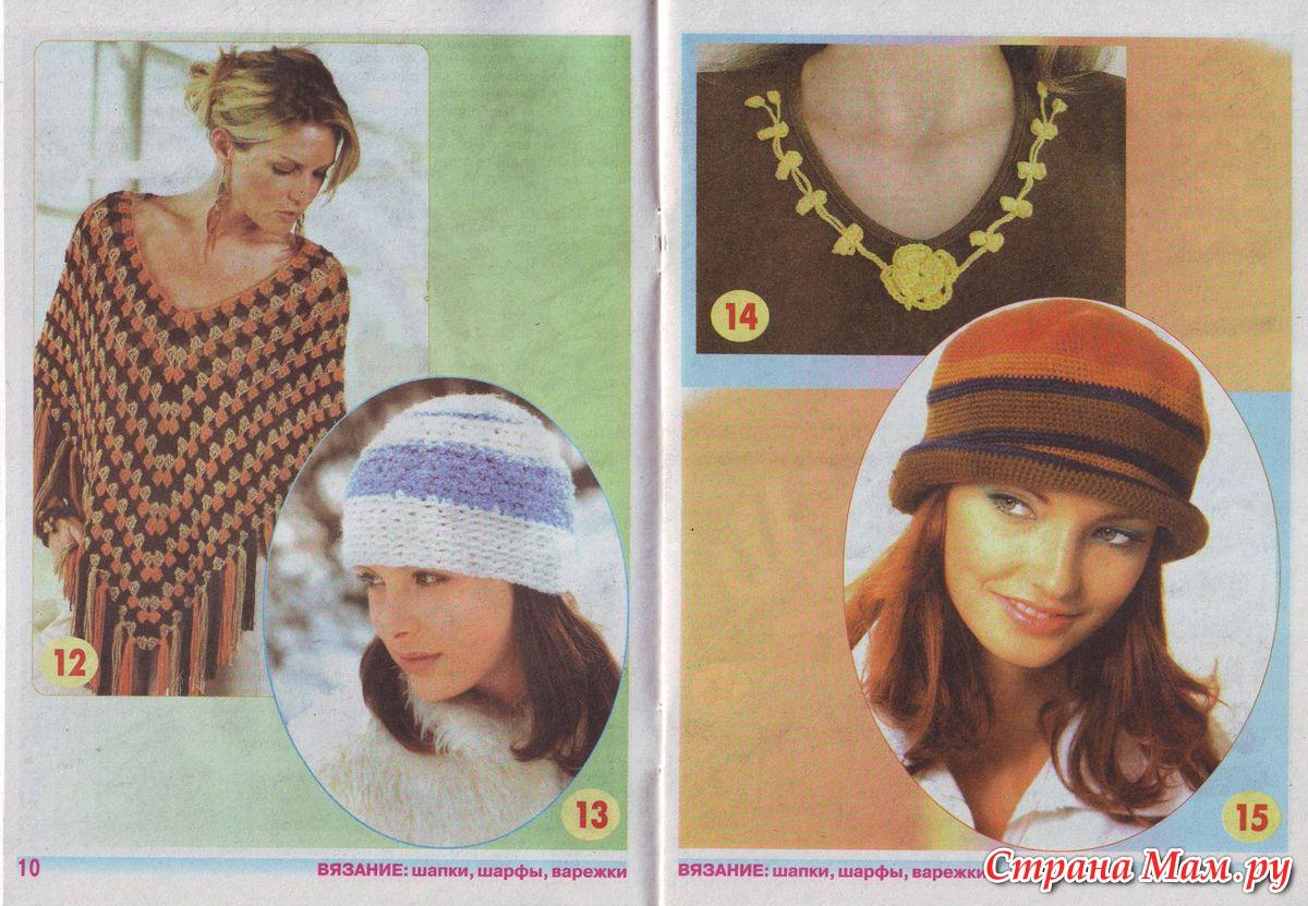 Страна мам вязание шапка-шарф