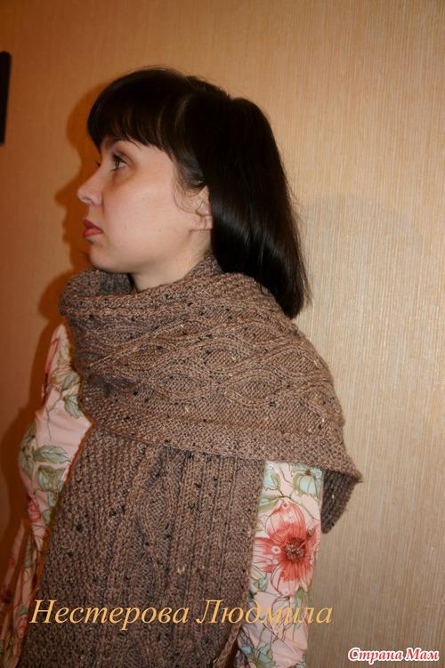 вязание шарф жилет