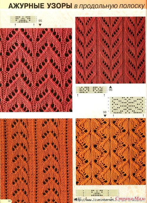 Вертикальные узоры для вязания