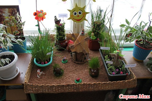 Поделки огород в детском саду