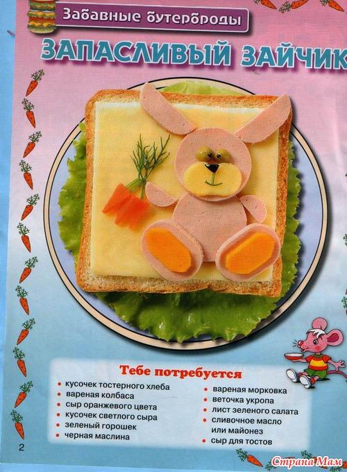 Рецепты прикольных бутербродов