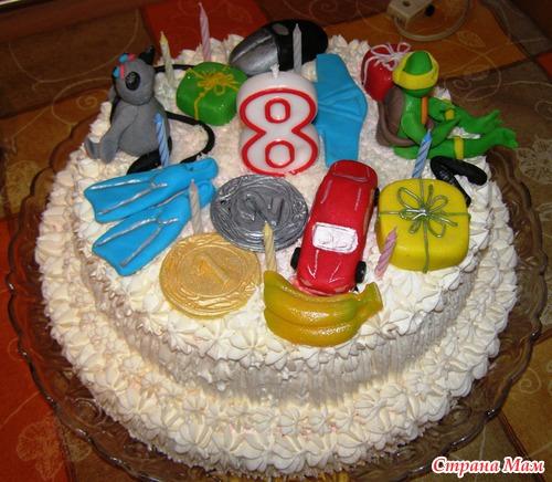 Торт для мальчика 7 лет фото своими руками