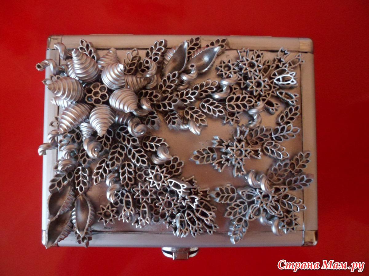 Изготовление поделок из макаронных изделий