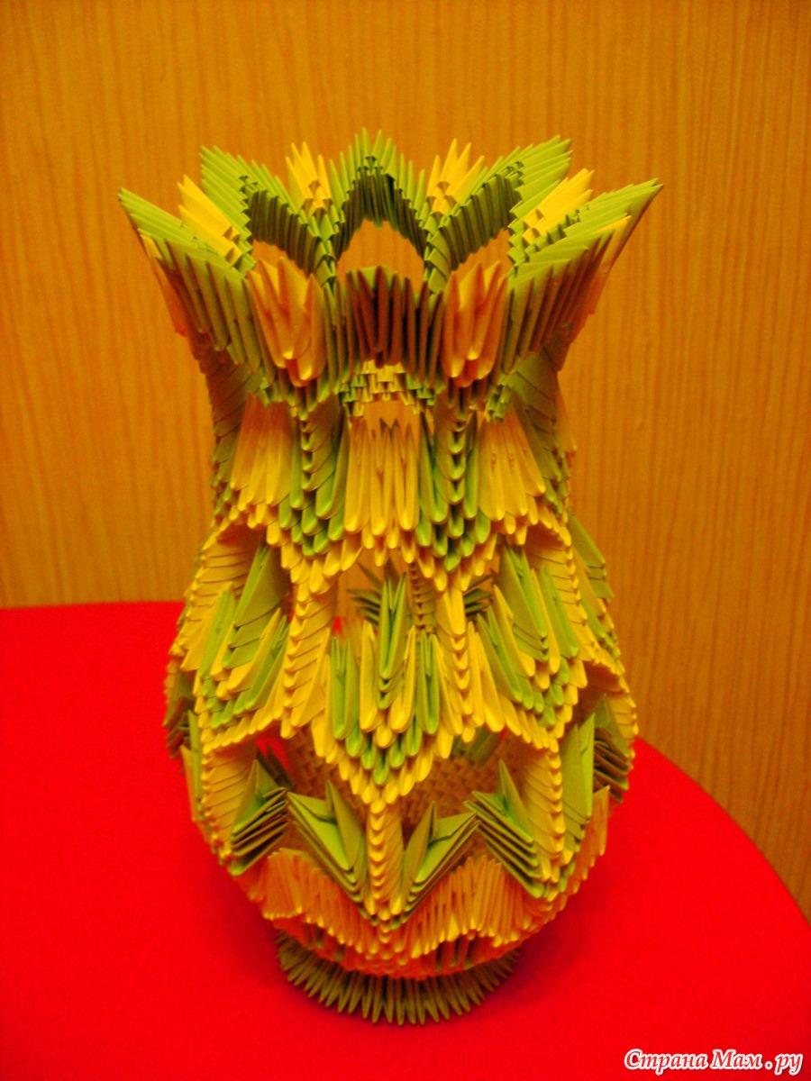 Собираем вазу из модулей оригами