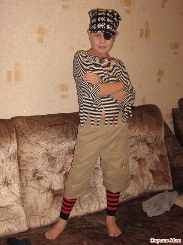 Костюм разбойника для мальчика фото своими руками