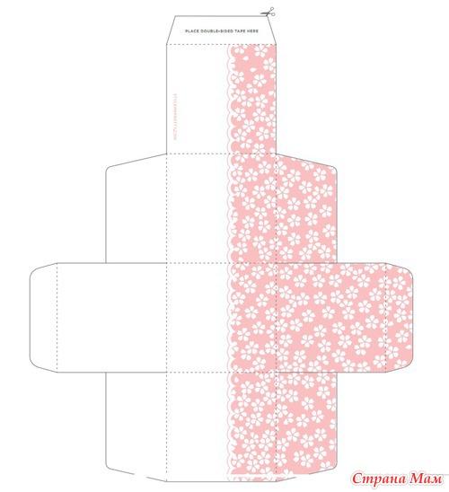 Коробка бонбоньерка своими руками шаблон