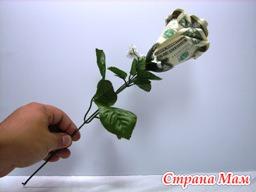 Поделки Цветы из денег своими руками