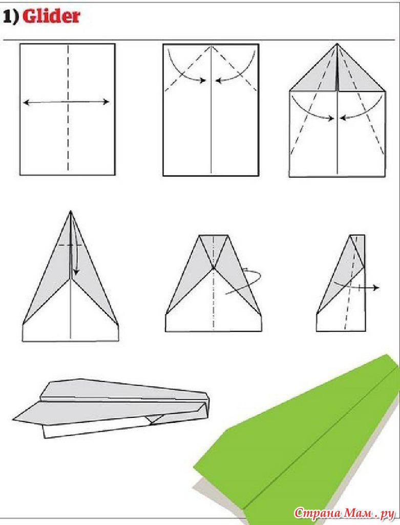 Как делать самолетик пошагово