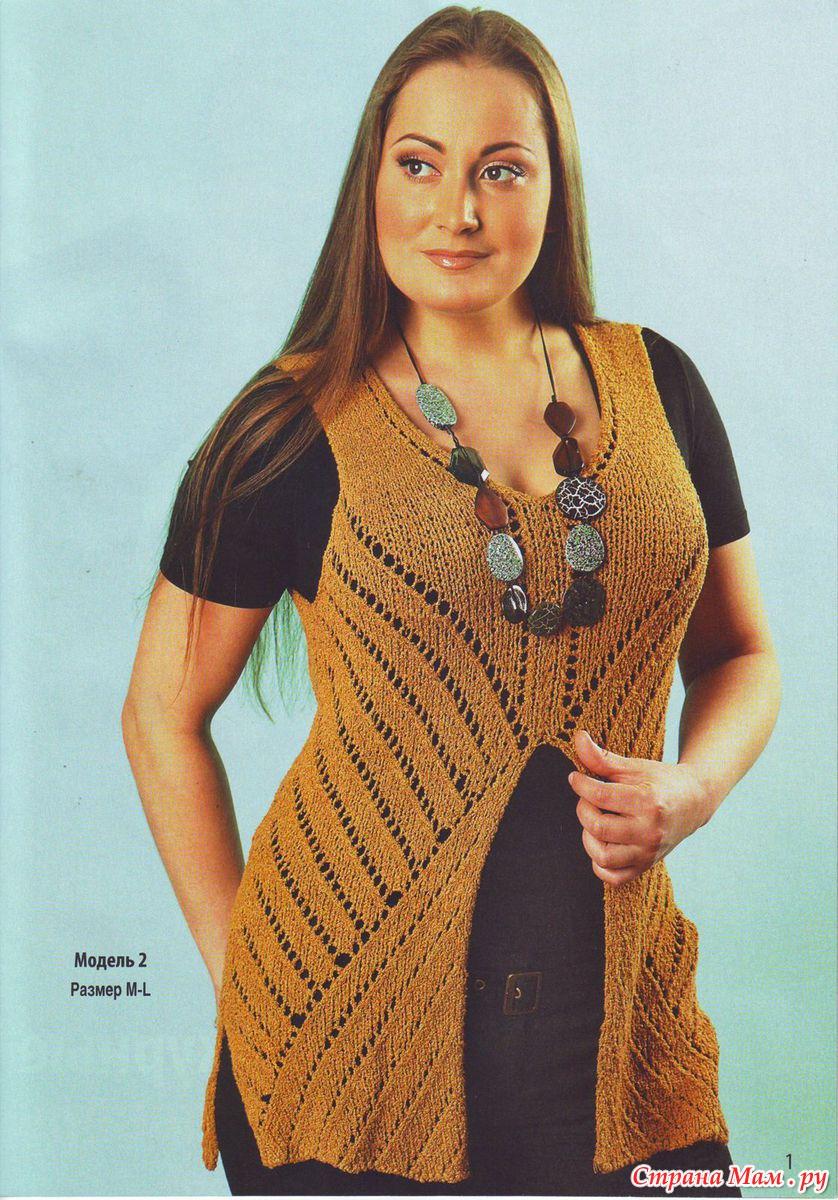 Вязание спицами туники с фото