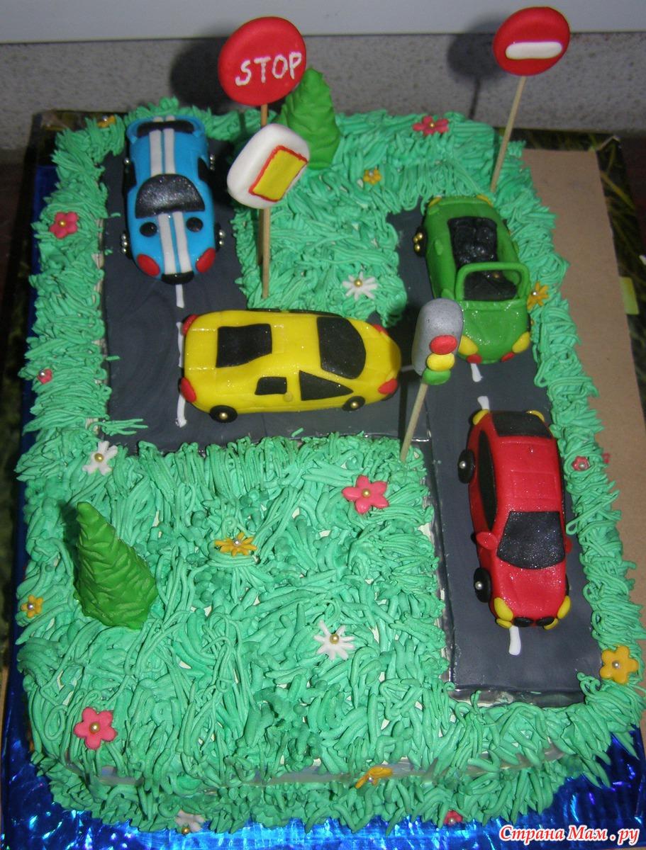 Как украсить торт для мальчика, Торт на день рождения 34