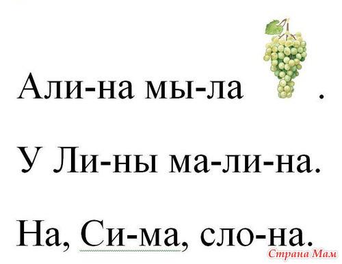 знакомство с буквой с б у