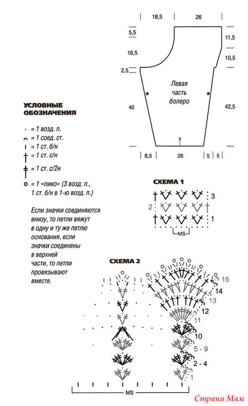 Выкройки и схемы для вязания крючком