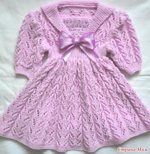 платья для девочек вязанные фото