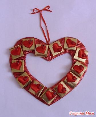 Подарки своими руками на день святого валентина мастер класс