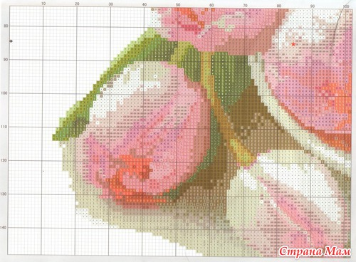 Вышивка крестом тюльпаны фото 71