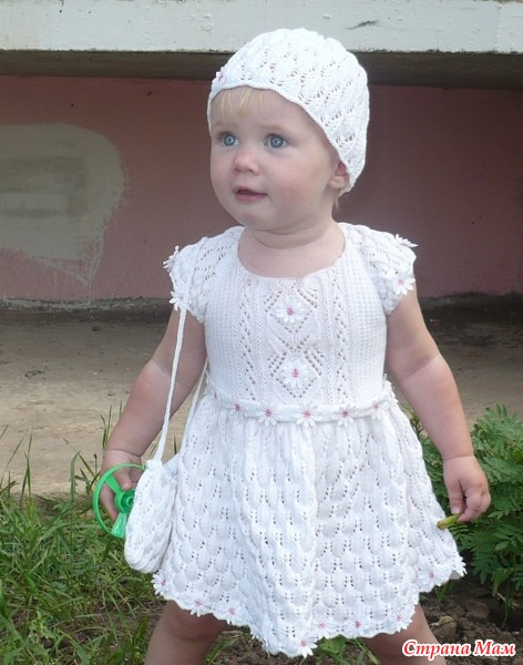 Платье детское спицами, взято
