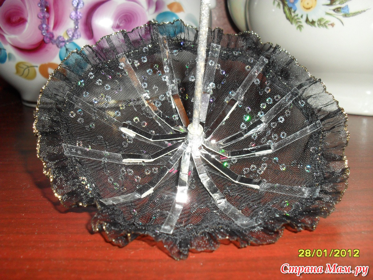 Зонтик из ниток своими руками 97