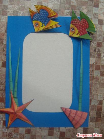 Рамка из цветной бумаги своими руками фото