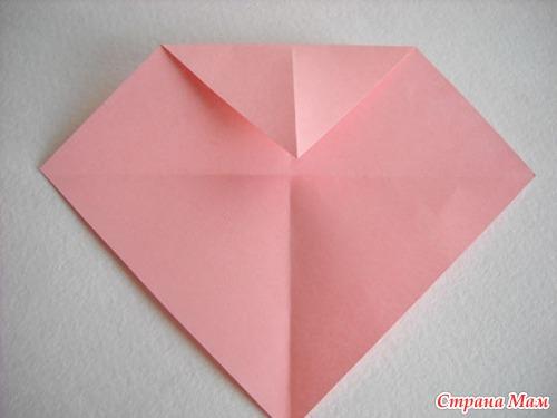 Валентинка оригами своими руками