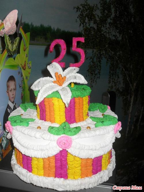 Тортик из бумаги гафре на день рождение детского сада.