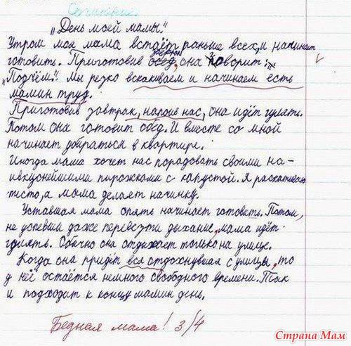 приколы из сочинений: