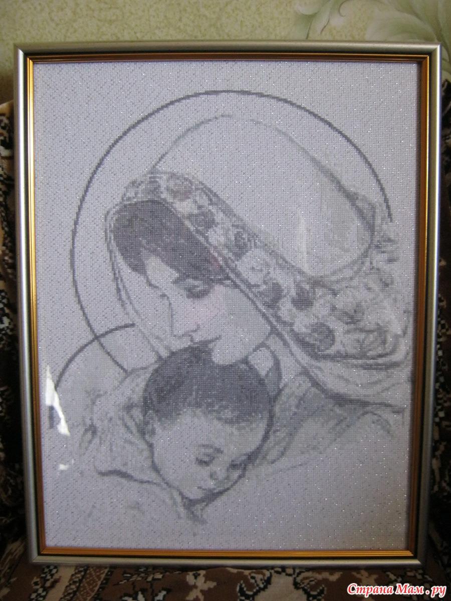 Схема Мадонна с ангелами вышивка крестиком 47