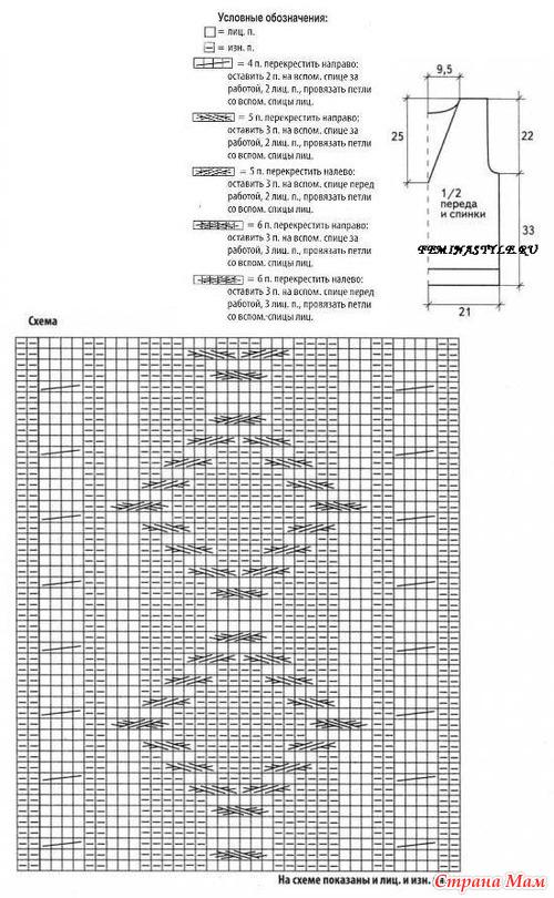 Серый жилет схема вязания