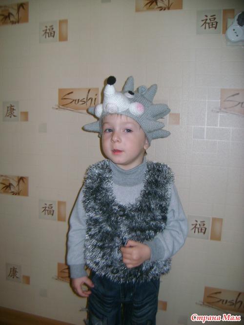 Новогодний костюм ежика для мальчика своими руками фото 164