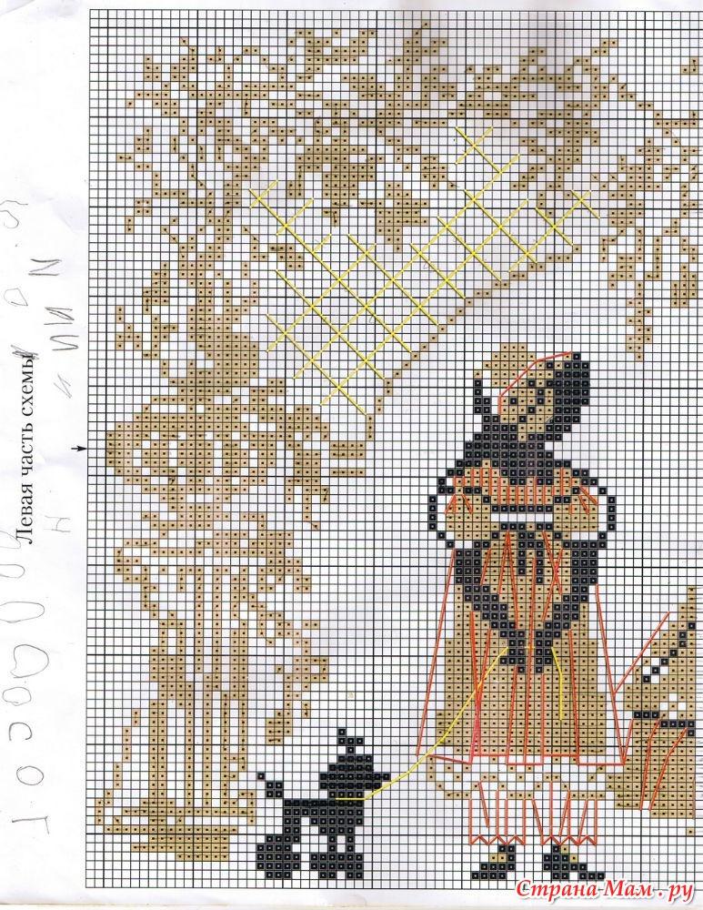 Схема вышивки утренняя прогулка риолис 69