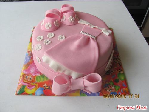 Как сделать торт из мастики на годик для девочки