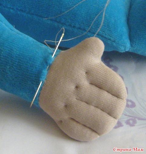 Как сшить руку с пальцами 471