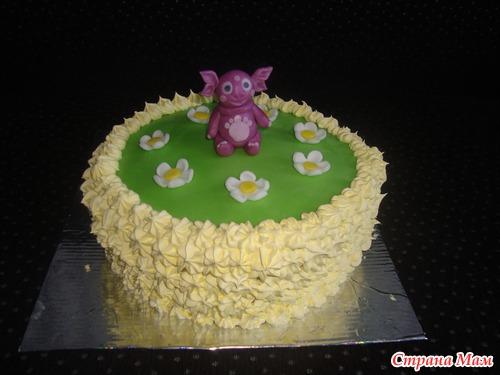 Торт в виде корзины с цветами фото