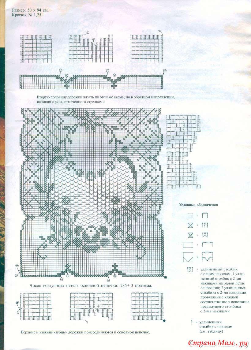 Вязание крючком схемы и модели филейной вязкой7