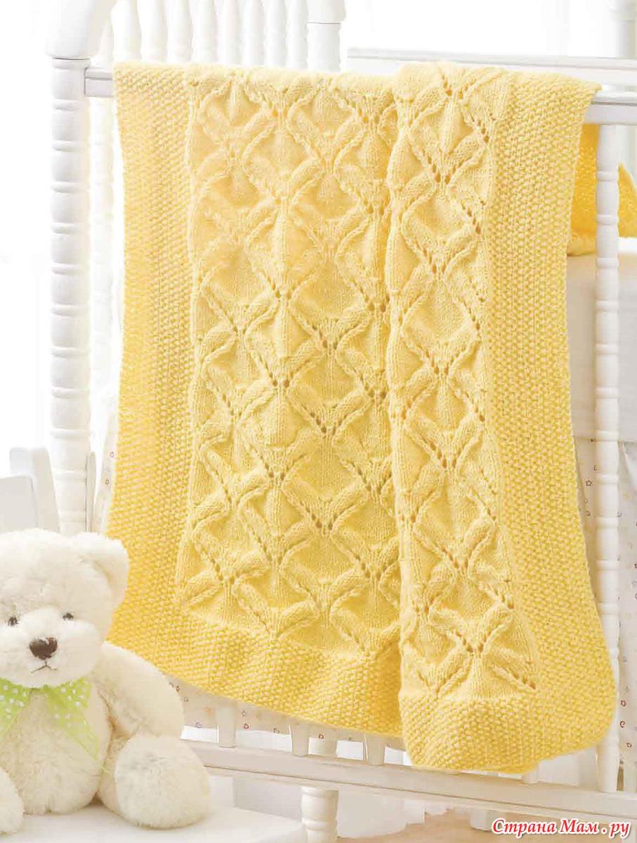 Вязание детского одеяла на спицах
