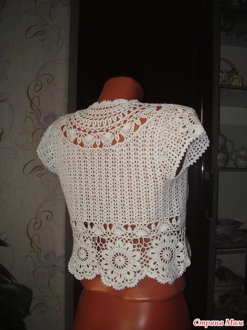 Болеро вязание на осинке