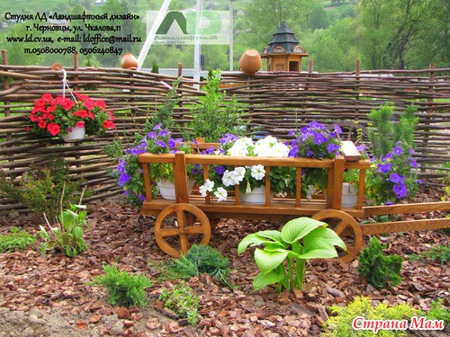 Ландшафтный дизайн у деревенского дома своими руками