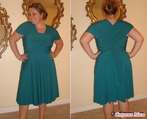 Платье трансформер на полных