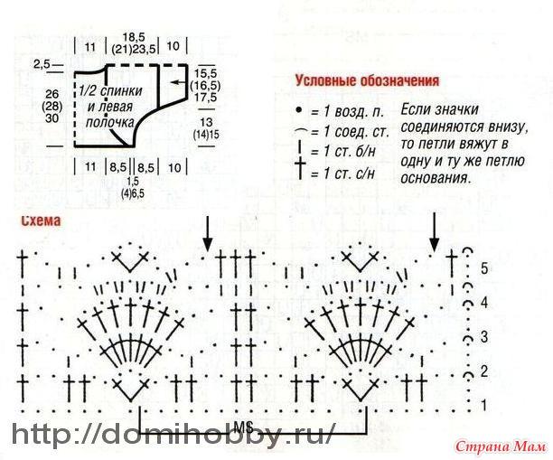 Схемы вязания крючком жакета болеро 34