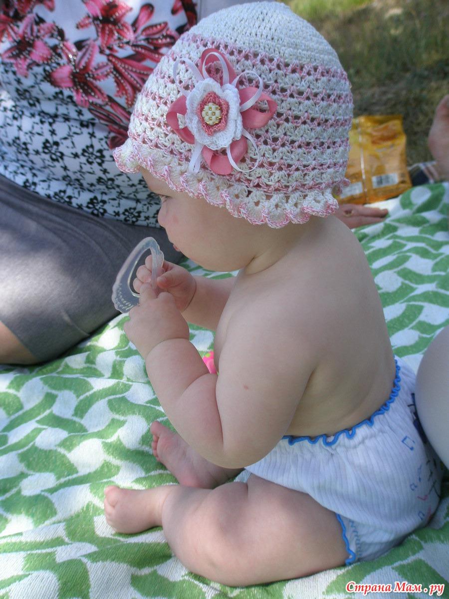 Вязание крючком для новорожденного шапка 481