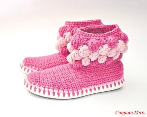 Тэги: вязаная обувь, вязание
