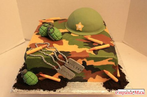 торт камуфляжный фото