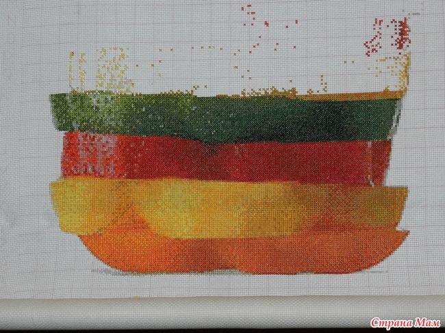 яркие цвета, вышивать одно