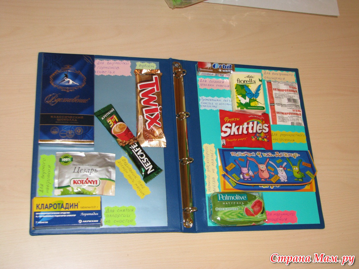 Папка подарок со сладостями своими руками