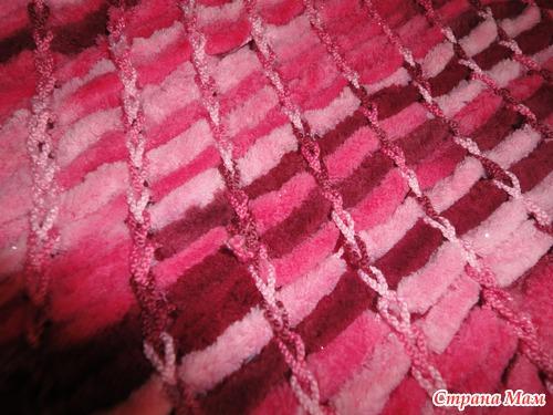 Вязание помпонной пряжей 6