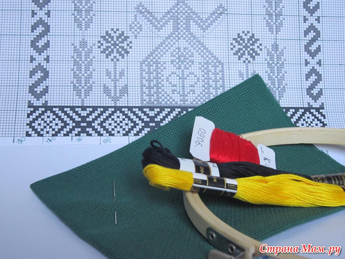 Подготовка канвы к вышивке