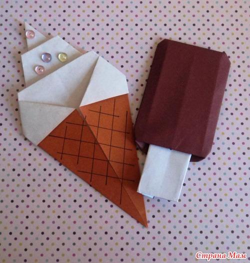 Мороженое на палочке поделка 169