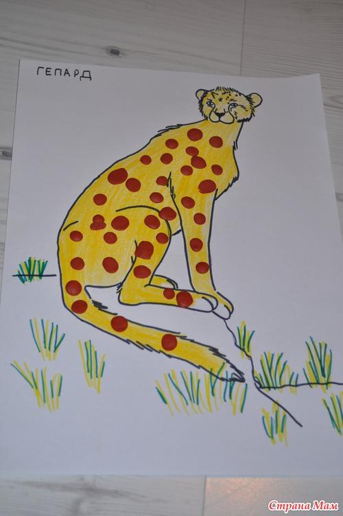 Как нарисовать саванна