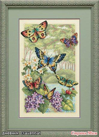 Тэги: бабочки, схема, вышивка